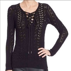 NWT Free People Lace Up Top Orig $128! Gorgeous and perfect for layering. NWT, never worn Free People Tops Sweatshirts & Hoodies