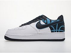 """finest selection f5858 ed012 Nike Air Force 1 07 Lv8 """"White Blue Black"""" 823511-105"""