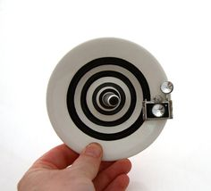 Ring holder with camera  ceramic ringholder jewelry by LennyMud on etsy #photography #cameras