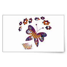 Caterpillar Into Stunning Butterfly Rectangular Sticker - graduation stickers grad sticker idea unique customize diy Graduation Stickers, Diy Stickers, Caterpillar, Make Your Own, Rooster, Butterfly, Unique, Party, Design