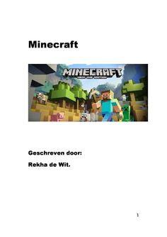 Hobby  | ' MINECRAFT'  | Geschreven door: Rekha de Wit |  www.apboek.nl