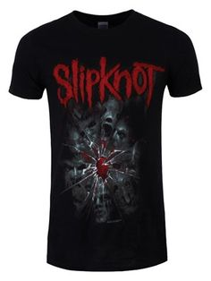 Let Slipknot pick up the pieces of your shattered soul with this awesome men's t-shirt which features the masked faces of the band members strewn across broken and bloodied glass. With the Slipknot logo across the back, this tee will look great on the back of Maggots. Officially licensed.