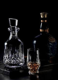 Forever Crystal Diamond Engraved Pair of Lovers Decanters With Personalised Inscriptions