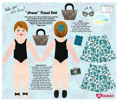 Arwen Travel doll panel on Spoonflower *1500 free paper dolls at artist Arielle Gabriel's The International Paper Doll Society also free Asian paper dolls at The China Adventures of Arielle Gabriel *