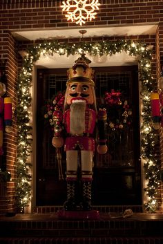 Dyker Heights Lights by Ennuipoet * FreeVerse Photography- This is my favorite house in Dyker Heights...love the giant Nutcrackers!
