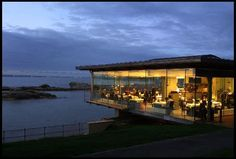 The Seafood Restaurant St Andrews at dusk. Good for Romantic, Business, Local Cuisine, Special Occasion Dining or Entertaining Clients