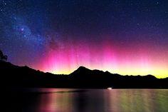 Aurora Southern Lights - Queenstown, New Zealand                                                                                                                                                                                 More