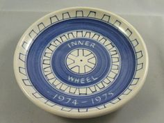 A dish created by Rye Pottery for the Rye Inner Wheel 1974-75