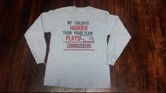 NEBRASKA TAILGATE, Long Sleeve T- shirt, Nebraska Apparel, Cornhuskers by MayberryHills on Etsy