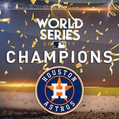 Congratulations to the Houston Astros 2017 World Series Champions Basketball Goals, Basketball Uniforms, Astros World Series, Baseball Series, Minute Maid Park, We Are The Champions, Houston Astros, Texas, Baseball Stuff