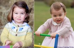 Princess Charlotte at age two (left), and age one (right). Both Photos ©HRH Duchess of Cambridge / PA Wire