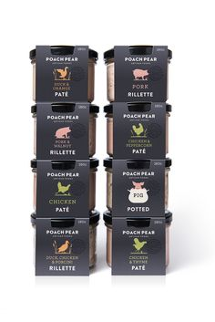 packaging The Dieline Awards Poach Pear Charcuterie — The Dieline Food Menu Design, Food Packaging Design, Packaging Design Inspiration, Brand Packaging, Rice Packaging, Bottle Packaging, Poached Pears, Artisan Food, Packaging Solutions