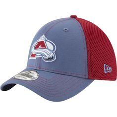 New Era Men's Colorado Avalanche 39Thirty Neo Blue Front Flex Hat, Size: S/M, Team