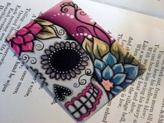 day of the dead SUGAR SKULL aceo painting print ART by Megan. $4.00, via Etsy.