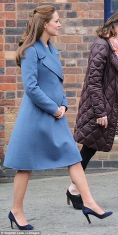 Doing the rounds: The engagement was the first of two today, with the Duchess of Cambridge travelling on to Smethwick after the factory visit