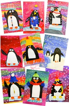 Vibrant Penguin Art Project