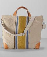 Linen Stripe Weekender Bag