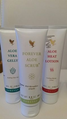 #ad Aloe scrub gently removes dead skin cells to unclog pores. The Aloe gelly lubricates sensitive tissue and helps calm irritation. The Aloe heat lotion provides relief from everyday stresses and strains. Can help with headaches when rubbed on temples and great for soothing aches after a workout.
