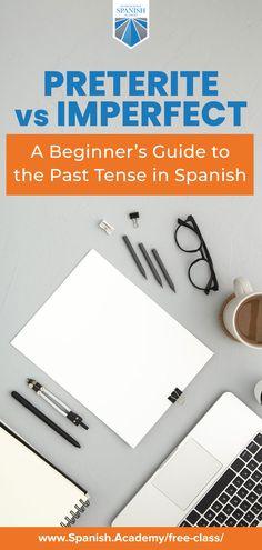 Spanish Grammar, Spanish Phrases, How To Speak Spanish, Learning Spanish, Learning Resources, Online Spanish Classes, Preterite Spanish, Class Teacher, Past Tense