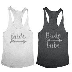 Bride and Bride Tribe Tank Tops
