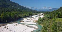 Isar - Bayerns schönster Fluss und gekürt als Geotop liegt in Lenggries!