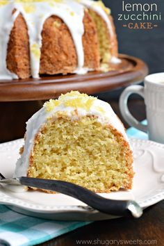 This Lemon Zucchini Cake is bright and full of flavor! Perfect for using up those garden zucchini in this recipe that's great for dessert, breakfast or tea time!