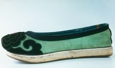 One of a pair of Antique Chinese silk embroidered shoes in the collection of Anthony J Sargeant 4