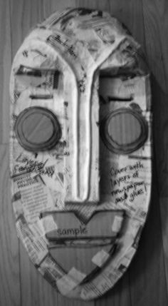 Art Education Daily: African Masks From Recycled Materials: Cardboard Construction