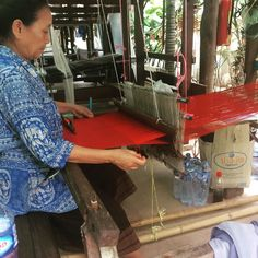 It's always interesting to pop over to the beautiful Lao Textiles in Vientiane to see Lao traditional silk weaving in action #vientiane #laos #laotextiles #textiles #weaving #traditions #silk #womeninbusiness #ethnic #culture #asia #photooftheday #eatdrinklaos #tourism #visiting #life #love #instatravel #instalike   Eat Drink Laos http://eatdrinklaos.com