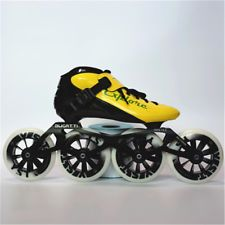 EUR size Speed Inline Skates Carbon Fiber Competition Skate Street Racing Skating Patines Similar With Powerslide Racing Shoes, Skate Shoes, Inline Speed Skates, Skate 3, Figure Photography, Street Racing, Yellow Black, Color Yellow, Types Of Shoes