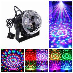 EU/US Plug New RGB 3W Crystal Magic Ball Laser <b>Stage Lighting</b> ...