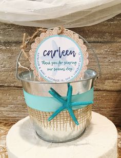 Beach Wedding Sand Pail Favors, Destination Wedding Favor Bags, Beach Wedding Gift Basket, Personalized Favor Tags, Galvanized Bucket by ThePaintedPearlSRQ on Etsy https://www.etsy.com/listing/488119152/beach-wedding-sand-pail-favors