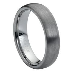 6mm Brushed Finish Domed Tungsten Car...