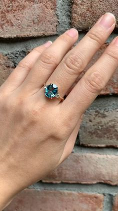 Three Stone Ring Blue Zircon & Moonstone (One of a kind) – Envero Jewelry, Saphire Ring, Moonstone Ring, Womens Jewelry Rings, Jewelry Accessories, I Need Vitamin Sea, Three Stone Rings, Blue Zircon, Ring Verlobung, Simple Jewelry