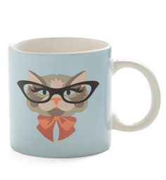 We just can't get enough of this studious kitty. What animal would you like on your coffee mug? #MrCoffee #coffee #MugClub