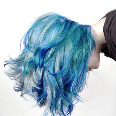 Electric Blue: Hair inspiration from the @fudgehair Lookbook. #crueltryfree #hairdye #tresses #prettymesses