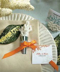Coral Bottle Stopper with Gift Packaging - $3.26 for orders 24 - 47.