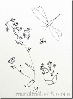 Wildflowers, Butterfly & Dragonfly Patterns - for painting, crafts, embroidery, clipart or coloring pages!