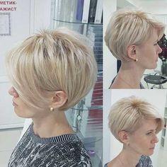 short bob hairstyles 2019 - Cute Short Haircuts for Thick Hair - Frauen Haare Style Short Hairstyles For Thick Hair, Haircut For Thick Hair, Short Hair With Bangs, Pixie Hairstyles, Pixie Haircut, Short Hair Cuts, Easy Hairstyles, Curly Hair Styles, Pixie Cuts