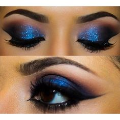 Blue Eye Makeup Idea Really Pretty Makeup Idea Blue Eyes via Polyvore featuring beauty products, makeup and eye makeup