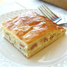 Italian Easter Pie: hand-pie filled with chunk hame, HB eggs, fresh eggs...King Arthur flour site