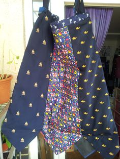 Nautical bag made for an RNLI event - every tie has a nautical theme, including the RNLI tie! www.junksmith.co.uk