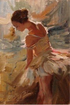 """Silhouette"" Scott Mattlin Oil ~ 11 x 7"