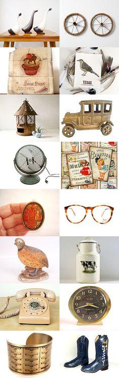 Vintage Treasury Ooak Finds  by Elinor Levin on Etsy--Pinned with TreasuryPin.com
