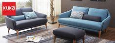 KUKA 2619 Fabric Sofa Fabric Sofa, Sofa Furniture, Sofa Design, Scandinavian Design, Sofas, Solid Wood, Modern Design, Couch, Living Room