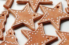 Star shaped gingerbread Christmas decoration