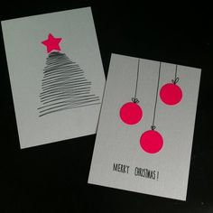 Oder wie man Weihnachtskarten schnell selbst basteln kann – Have you already written Christmas cards? Create Christmas Cards, Christmas Deco, Christmas Post, Navidad Simple, Homemade Christmas, Diy Cards, Homemade Cards, Christmas Crafts, Card Making