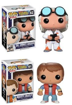 Back To The Future Funko Pop Vinyl Figure Set of 2 with Doc and Marty McFly http://popvinyl.net #funko #funkopop #popvinyl