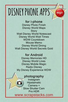 Disney apps graphic