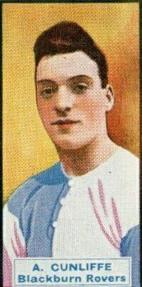 Arthur Cunliffe of Blackburn Rovers in 1929.